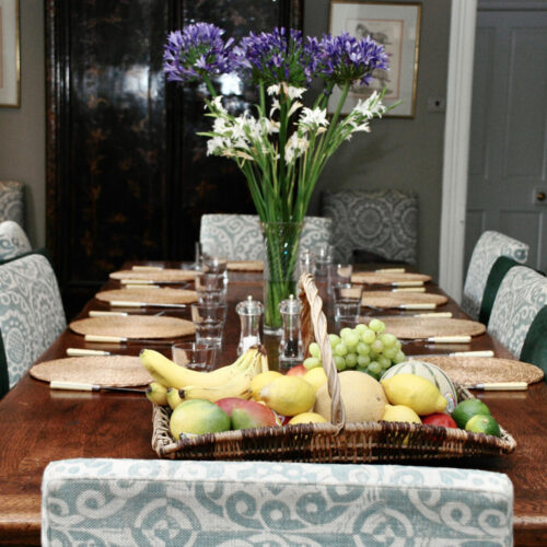 laid table dining room