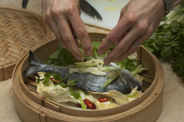 Teen cooking courses - Asian Steamed fish